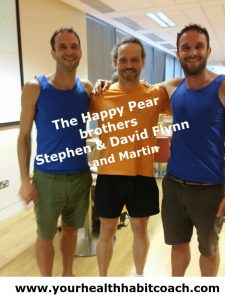 The Happy Pear brothers in Ulster Bank with Nutrition & Health Coach Martin Luschin in Sandyford Central Park Leopardstown Dublin 18