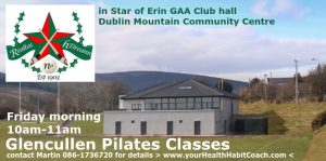 Glencullen Pilates Star of Erin GAA Club Hall Diublin Mountain Community Centre v1