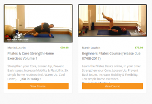 Online Pilates Core Strength Course with Martin Luschin Ireland South Dublin