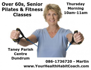 Over 60s Senior Pilates fitness classes in south Dublin Dundrum Goatstown close to LUAS Churchtown Clonskeagh Ballinteer Stillorgan