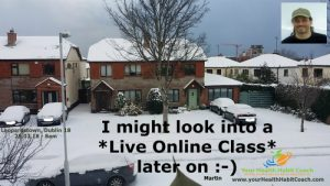 Snow Feb 2018 No Morning Pilates Classes in South Dublin live Pilates Rathfarnham Willbrook near Nutgrove Marlay Park WhiteChurch Dublin 14