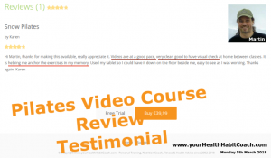 Review Testimonial Online Video Pilates Course Dundrum South Dublin Ireland Pilates with Martin
