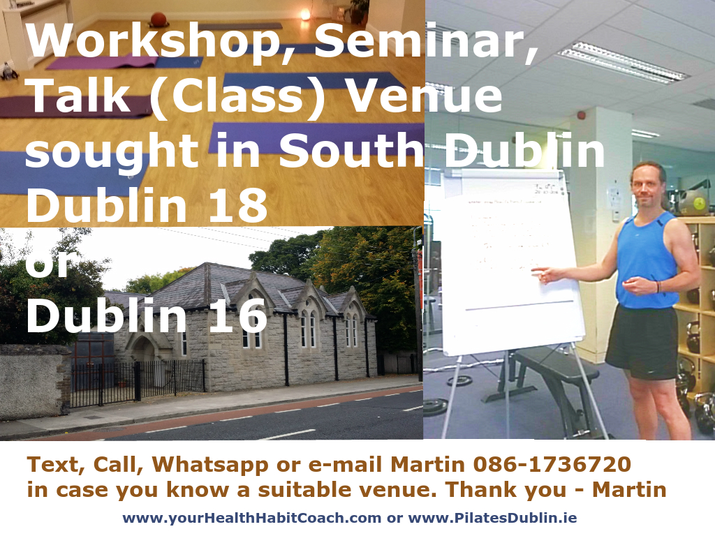 Class Talk Seminar Workshop Venue sought in South Dublin v2